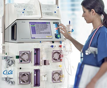 Nurse operating multiFiltrate